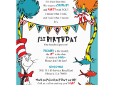 Dr Seuss Birthday Invite Dr Seuss Birthday Invitations Blackline