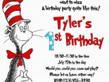 Dr Seuss Birthday Invites Cat In the Hat Invitation Printed 5×7 Customized
