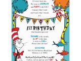 Dr Seuss Birthday Invites Dr Seuss Birthday Invitations Blackline