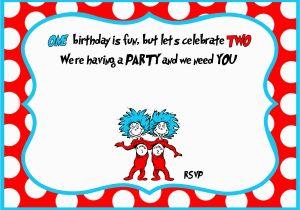 Dr Seuss Birthday Invites Free Printable Dr Seuss 1st Birthday Invitation Template