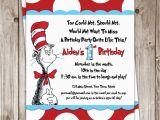 Dr Seuss Birthday Invites Party Invitations How to Make Dr Seuss Party Invitations