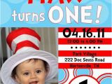 Dr Seuss First Birthday Invitations Dr Seuss 1st Birthday Invitations A Birthday Cake
