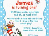 Dr Seuss First Birthday Invitations Dr Seuss Birthday Invitations Wording Free Invitation