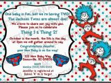 Dr Seuss Twin Birthday Invitations Printable Dr Seuss Baby Shower Invitations for One Baby