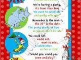 Dr Suess Birthday Invitations Custom Personalized Dr Seuss Inspired 1st 2nd or 3rd