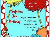 Dr Suess Birthday Invitations Dr Seuss Birthday Party Ideas Photo 20 Of 20 Catch My