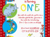 Dr Suess Birthday Invitations Dr Seuss First Birthday Party Invitation by Sdgraphicdesign