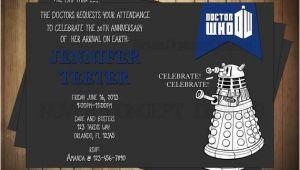 Dr who Birthday Invitations Novel Concept Designs Doctor who Birthday Invitations