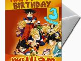 Dragon Ball Z Birthday Card Dragon Ball Personalised Birthday Card Large A5