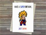 Dragon Ball Z Birthday Card Dragon Ball Z Super Saiyan Birthday Card Goku Cute Card