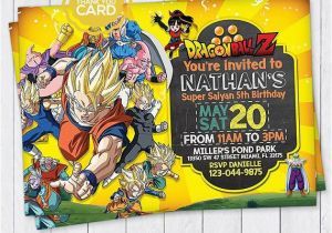 Dragon Ball Z Birthday Invitations Invitation