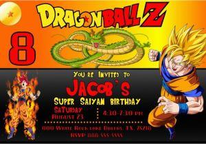 Dragon Ball Z Birthday Invitations Goku Party Invitation