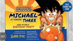 Dragon Ball Z Birthday Invitations Dragon Ball Z Invitation Dragon Ball Z Birthday by