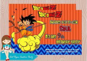 Dragon Ball Z Birthday Invitations Dragon Ball Z Free Printable