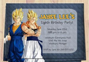 Dragon Ball Z Birthday Invitations Momma Made On Etsy