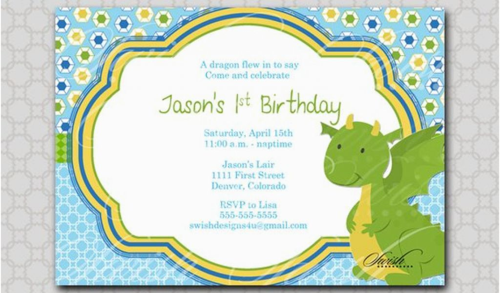 Dragon Birthday Invitations Printable Invitation