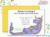 Dragon Birthday Invitations Printable Purple Dragon Invitation Kids Birthday Printable