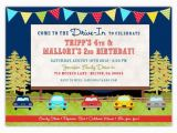 Drive In Movie Birthday Party Invitations Drive In Movie Birthday Invitations A Ian Lola