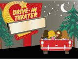 Drive In Movie Birthday Party Invitations Drive In Movie Clipart Clipart Suggest
