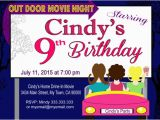 Drive In Movie Birthday Party Invitations Drive In Movie Night Printable Invitation Party Invitation
