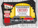 Drive In Movie Birthday Party Invitations Drive In Movie Party Invitation Drive In Birthday