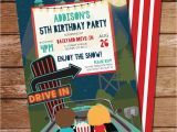 Drive In Movie Birthday Party Invitations Drive In Movie Party Invitation Drive In Party