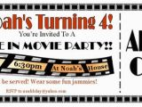 Drive In Movie Birthday Party Invitations Drive In Movie Ticket Invitation Actual by