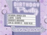 Drive In Movie Birthday Party Invitations Movie Party Invitation Retro Drive In Marquee Purple Pink