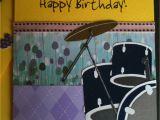 Drummer Birthday Card Handmade Greeting Card Crafts Bestfriends Made It Dw