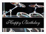 Drummer Birthday Card Happy Birthday Drum Kit Card Zazzle