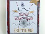 Drummer Birthday Card Stoney Stitches Birthday Drummer