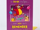 Drunk Birthday Cards Birthday Card Drunk Rooster Only 1 39
