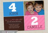 Dual Birthday Invitations Double Birthday Party Invitation Sibling Birthday or Joint