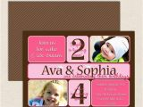 Dual Birthday Invitations Dual Birthday Party Invitations Lil 39 Sprout Greetings