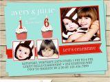Dual Birthday Invitations Dual Birthday Party Invitations Printable Double Birthday