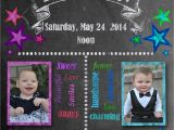 Dual Birthday Party Invitations Chalkboard Style Birthday Invitations Kustom Kreations