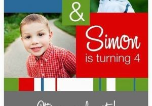 Dual Birthday Party Invitations Double Party Birthday Invitations A Birthday Cake