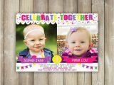 Dual Birthday Party Invitations Joint Birthday Invitation Double Birthday Party Invite Twins