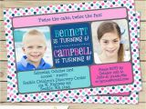 Dual Birthday Party Invitations Sibling Birthday Party Invitation Boy or Girl Double