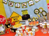 Dump Truck Birthday Party Decorations Construction Birthday Banner Construction Birthday