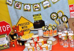 Dump Truck Birthday Party Decorations Construction Birthday Banner Construction Birthday