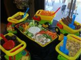Dump Truck Birthday Party Decorations Dump Trucks with Construction themed Foods and A tool Box