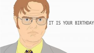 Dwight Schrute It is Your Birthday Card Quot It is Your Birthday Dwight Schrute Quot Stickers by Colxbat
