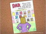 E Birthday Cards for Dad Dad Birthday Card Funny Card for Dad Hand Drawn Card for