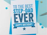 E Birthday Cards for Dad Step Father or Step Dad Birthday Card by A is for Alphabet