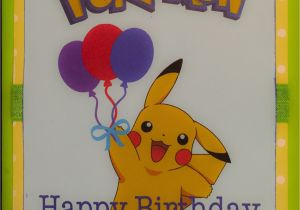 E Birthday Cards For Kids Pokemon Card Homemade