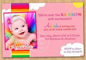 E Invitation For Baby Birthday 1st Cards Templates Free Theveliger