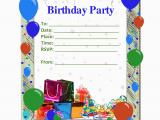 E Invitation for Birthday Party Birthday Invitation Template