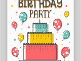E Invitation for Birthday Party Birthday Party Invitation Card or Welcome Design Happy and