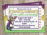 E Invitation for Birthday Party Chuck E Cheese Birthday Party Invitation for Chuck E Cheese